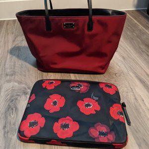 Kate Spade Wilson Road Poppy Maroon Tote Laptop